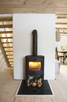 sitting by the Iron Stove- Swedish Home
