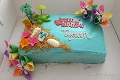 Luau Cake Recipe | The end of summer is approaching quickly, go out with a banging luau party with this cake!
