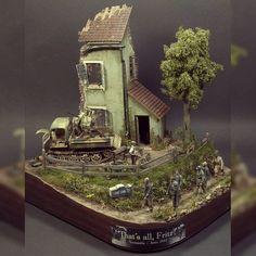 "Nice!!! ""That's all Fritz!"" diorama. Unknown modeler #scalemodel #plastimodelismo #miniatura #miniature #miniatur #maqueta #maquette #modelismo #modelism #modelisme #hobby #diorama #war #guerra #guerre #bataille #plastickits #usinadoskits #udk #plasticmodel #plastimodelo"
