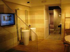 The shape of Body free-standing #basin is inspired by our Vov bathtub: chosen for the Marazzi #showroom in #Milan. #MastellaDesign #designbasin #washbasin #italiandesign