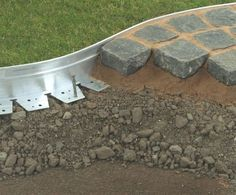 Steel Edging For Gravel Driveway — Veterans Against The Deal : Aluminum Landsc. Steel Edging For G Metal Landscape Edging, Landscape Borders, Garden Borders, Garden Paths, Lawn And Garden, Landscape Design, Metal Garden Edging, Garden Border Edging, Yard Edging