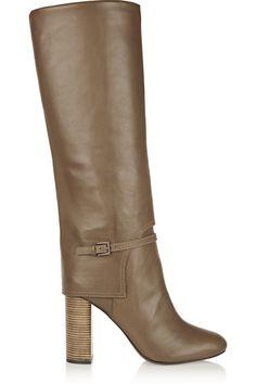 Tory Burch   Faye leather knee boots   NET-A-PORTER.COM
