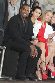 Kanye West and Kim Kardashian at Stéphane Rolland