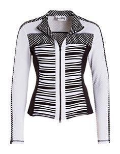 BLACK + WHITE JACKET | Joseph Ribkoff Collection | A contrasting design mix gives a global-minded feel to this transeasonal style.