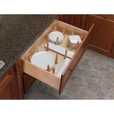 Rev-A-Shelf Small Wood Cabinet Drawer Peg System Insert with Pegs-4DPS-2421 - The Home Depot