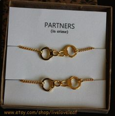 Partners in crime matching Best Friends Bracelets by LiveLoveLeaf, $25.00