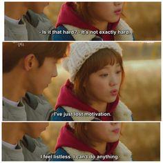 Quotes Drama Korea, Korean Drama Quotes, Korean Drama Funny, Korean Drama List, Kdrama Memes, Funny Kpop Memes, Weightlifting Fairy Kim Bok Joo Funny, Kdrama 2016, Weighlifting Fairy Kim Bok Joo