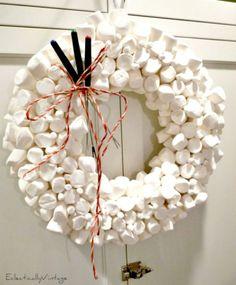 Marshmellow wreath