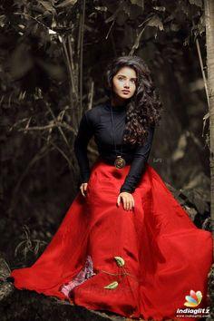 nice Indian Model Anupama Parameshwaran In Red Lehenga Choli Tamil Actress Photos, Indian Film Actress, South Indian Actress, Indian Actresses, South Actress, Beautiful Girl Indian, Beautiful Indian Actress, Long Gown Dress, Saree Dress