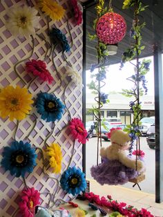 I just LOVE this swing!  Display Window at Baby Vogue Boutique Kingston PA.
