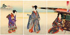 Date unknown - Chikanobu, Toyohara - Going Out in the Finery- Meiji Beauties - Japanese Art Open Database
