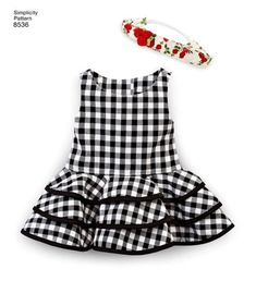 Items similar to American Girl Doll Clothes Pattern, 18 inch Doll Clothes Pattern, 18 inch Doll Dress Pattern, Simplicity Sewing Pattern 8536 on Etsy American Girl Clothes, Girl Doll Clothes, Kids Frocks Design, Doll Dress Patterns, Little Girl Dresses, Baby Dress, Kids Outfits, Ruffle Skirt, Flare Dress