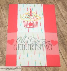 Blumis kreativ Blog: Bunte Geburtstagskarte