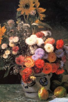 Flowers in a Vase, by Pierre-Auguste Renoir