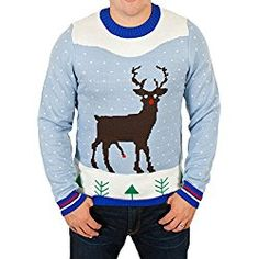 Red Rocket Rudolph Naughty Christmas Sweater - do you see what I see?