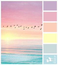Soft pastel sky and ocean colours