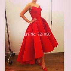 Simple Elegant Red Party Dress,custom made it for you! http://www.aliexpress.com/item/MN-10-New-Hotsale-sweetheat-neck-sleeveless-Pleat-Sexy-Red-Tarik-Ediz-Drapped-Short-Satin-Evening/32296378916.html