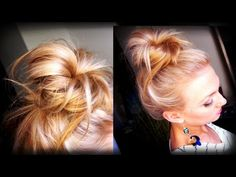 Hair How To: Messy Topknot Bun - she explains everything perfectly and has tons of great beauty tip videos!