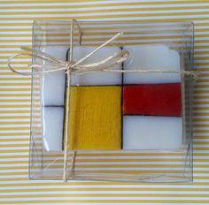 Sabonete em barra, inspirado em Mondrian