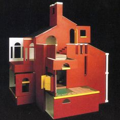MJ Long and Colin St John Wilson Doll House 1983  #architecturalmodel #design #toy #dollshouse #colinstjohnwilson #mjlong #archidaily #1980s #archilovers #architecture #architexture #architecturelovers #buildinglover #postmodern #postmodernarchitecture #postmoderndesign #thetriumphofpostmodernism by adamnathanielfurman
