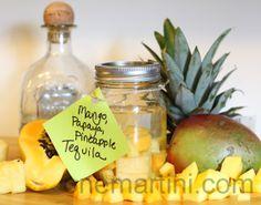 Mango, Papaya, Pineapple Infused Tequila