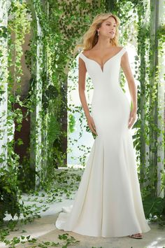274c2ddcced0 58 Best Off the Shoulder Wedding Dresses images in 2019