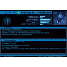 Super Hero Profile: Penny