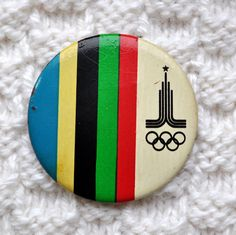 vintage soviet pin. moscow olympics '80. Lake Placid Olympics, Button Badge, Olympic Games, Retro, Moscow, Badges, Prints, Jacket, Poster
