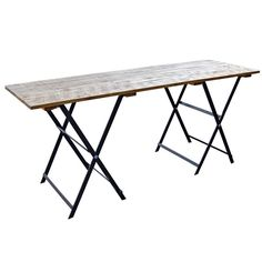 Retail Display Wooden Table | Trestle Table With Wooden Top | WBC