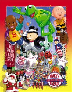 Macy's Thanksgiving Day Parade, 2002 ~ Illustration by Rick Lovell