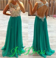 Cheap prom dresses Buy Quality prom dresses directly from China 2017 prom dresses Suppliers: robe de soiree Prom Dresses 2017 A Line Chiffon O Neck Beading Crystal Backless Formal Evening Gowns Long Party Dress Vestidos Open Back Prom Dresses, Prom Dresses 2016, Backless Prom Dresses, A Line Prom Dresses, Prom Dresses Online, Sexy Dresses, Beautiful Dresses, Evening Dresses, Formal Dresses