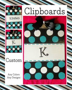 Monogrammed Clipboard on Etsy
