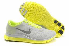 f4cf3c9875d Sale Nike Free 4.0 V2 Womens Light Grey Fluorescent Green Running Trainers  Running Trainers