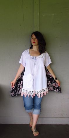 Hey, I found this really awesome Etsy listing at https://www.etsy.com/listing/188322833/upcycled-clothingpeasant-bohemian