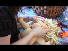 Hacer cabeza a muñeca de trapo parte 1 - YouTube