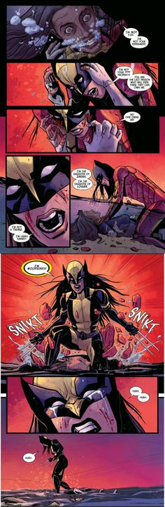 Laura Kinney aka X-23 is finally free - - Hide.. just Hide, and pray to whatever deity that has mercy that she can't smell you