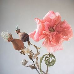Wild Beauty - creating botanical experiments with textiles - My Fall 2014 class at Squam art Workshops Flora Botanica, Ann Wood, Textile Artists, Soft Sculpture, Abstract Shapes, Crate And Barrel, Hampshire, Fabric Crafts, Poppies