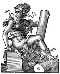 Jost Amman: Fortitudo (aus dem Kunstbüchlein, 1599)