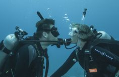 Partners above and below the sea--who here is lucky enough to dive with their significant other?