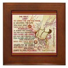 The First Step Framed Tile > Karen Salmansohn's Store