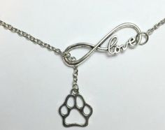 Show your dog love with this silver infinity paw print bracelet! Buy this bracelet now at this low introductory price!