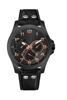 Look street smart with this black colored analog watch for men from the house of Tropez. #ComingSoon