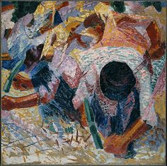 The Street Pavers / Umberto Boccioni / 1914 / oil on canvas / at the Met / love this