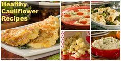 8 Healthy Cauliflower Recipes - From cauliflower pizza to cauliflower griddle cakes, you'll find a collection of some of the best low-carb cauliflower recipes over at Everyday Diabetic Recipes!