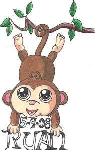 monkey tattoo-maybe? something waaaaaaaaaaaaaaaaaaaaaaaaaaay less cutesy?
