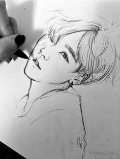 Shared by Y. Find images and videos about bts, bangtan boys and drawing on We Heart It - the app to get lost in what you love. drawing Image in BTS Fanart🙆 collection by Y. Pinterest Arte, Drawn Art, Kpop Drawings, Kpop Fanart, Drawing Reference, Drawing Skills, Drawing Techniques, Drawing Ideas, Art Inspo