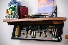 If you're looking for a storage solution that matches your passion for guns, while still keeps things on the hush hush, TacticalWalls has something for you