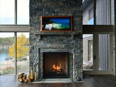 gorgeous thin stone veneer fireplace