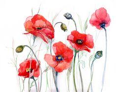 акварельные цветы - Поиск в Google