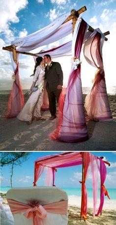 'i do' it yourself: beach wedding arbor